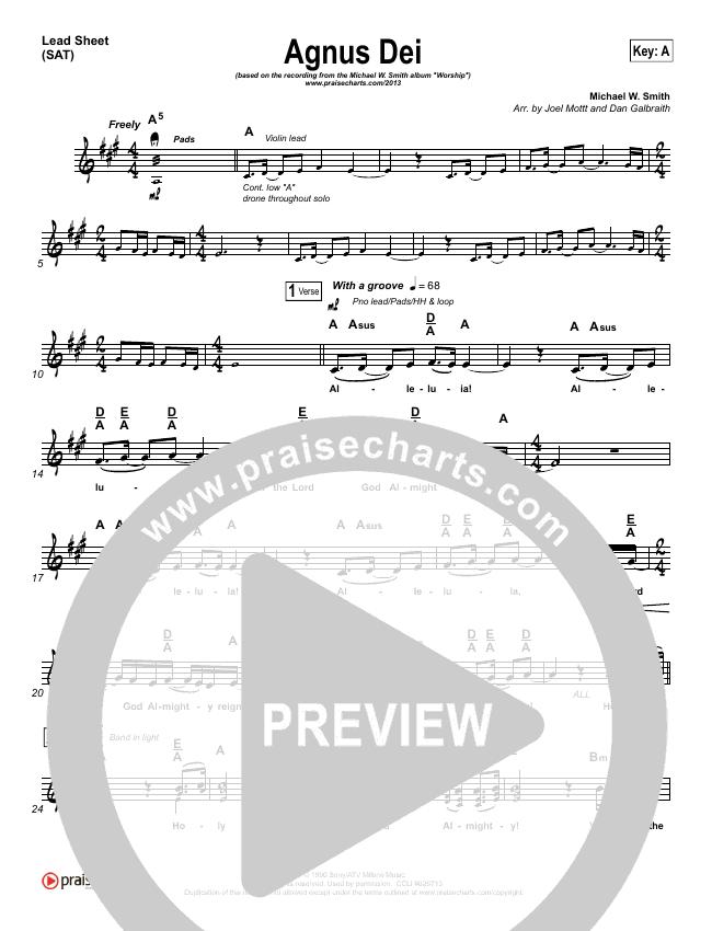 Agnus Dei Piano/Vocal Pack (Michael W. Smith)