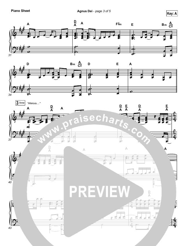 Agnus Dei Piano Sheet (Michael W. Smith)