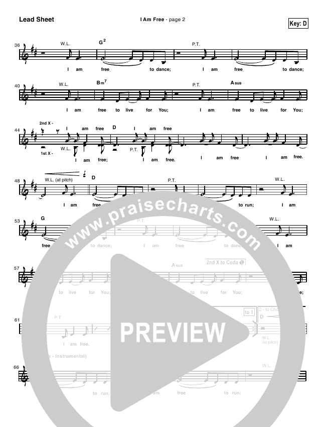 I Am Free Orchestration (with Vocals) (New Life Worship)