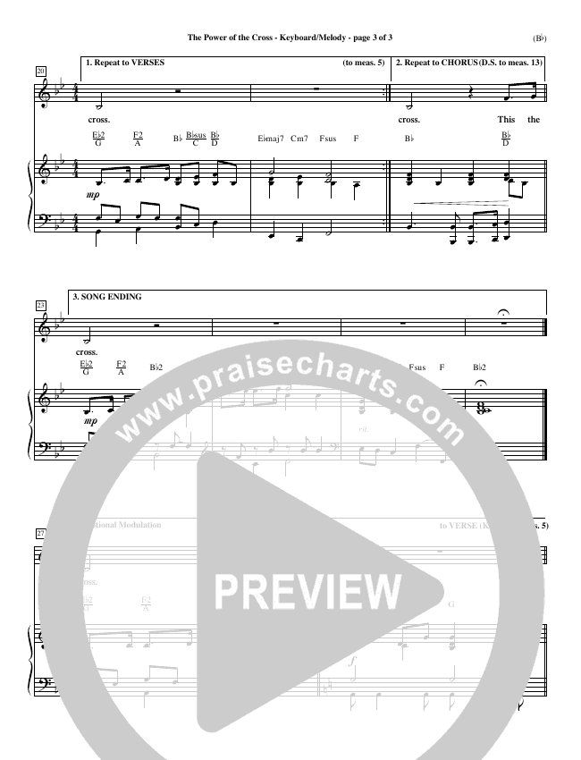 The Power Of The Cross Piano Sheet (Keith Getty)