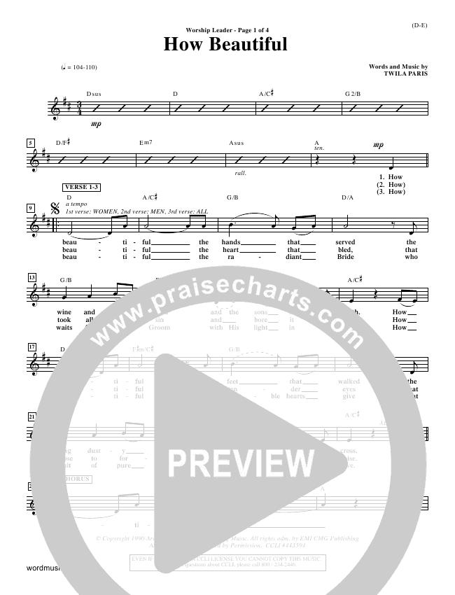 How Beautiful Orchestration (Twila Paris)
