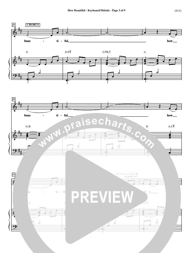 How Beautiful Piano Sheet (Twila Paris)