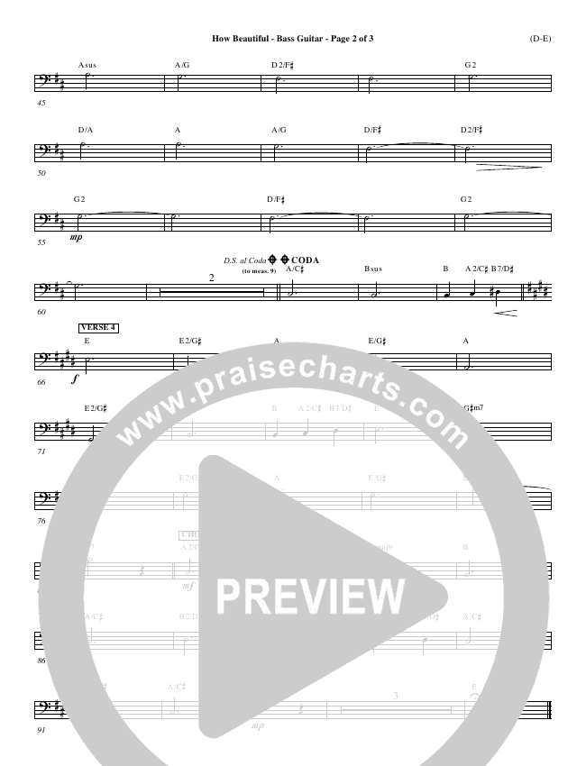 How Beautiful Rhythm Chart (Twila Paris)