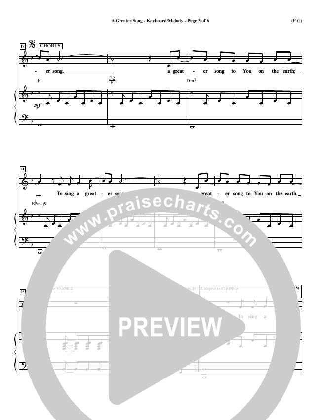 A Greater Song Piano Sheet (Paul Baloche)