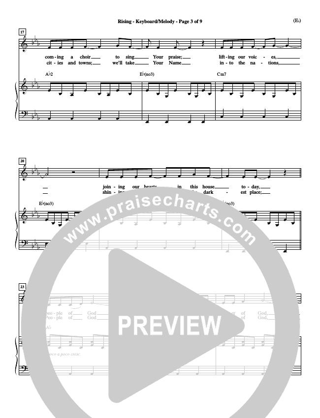 Rising Piano Sheet (Paul Baloche)