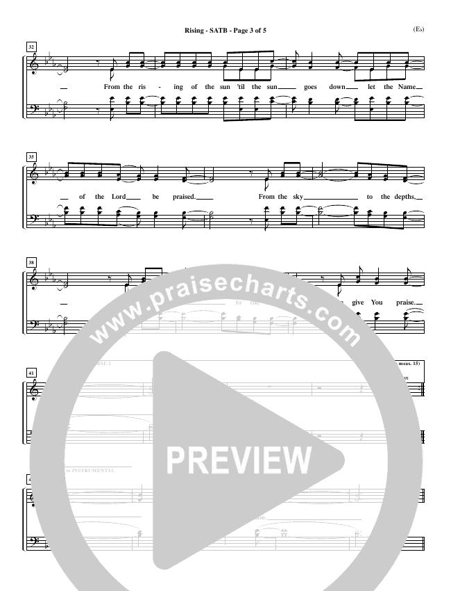 Rising Choir Sheet (SATB) (Paul Baloche)
