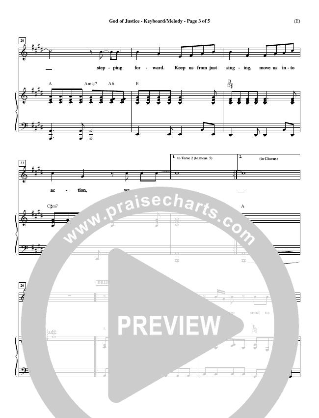 God Of Justice Piano Sheet (Tim Hughes)