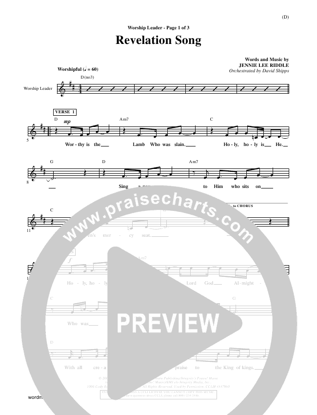 Revelation Song Orchestration (Jennie Riddle)