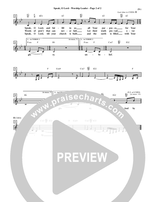 Speak O Lord Orchestration (Stuart Townend)