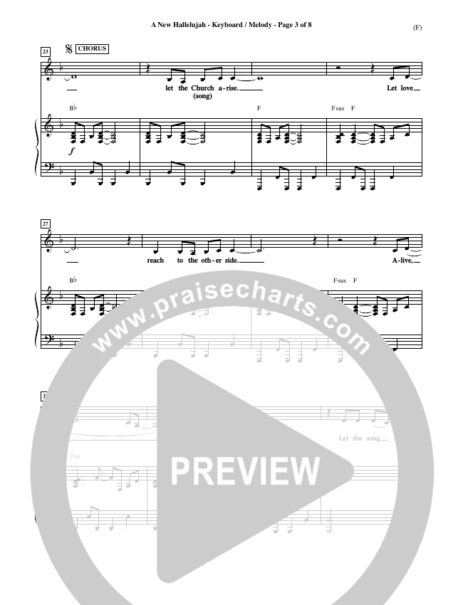 A New Hallelujah Piano Sheet (Michael W. Smith)
