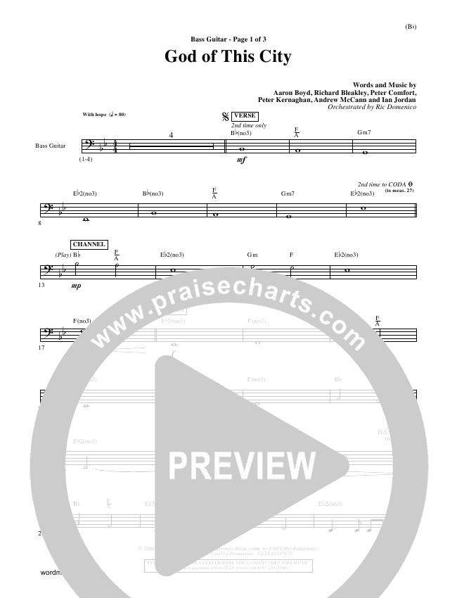 God Of This City Rhythm Chart (Passion Band)