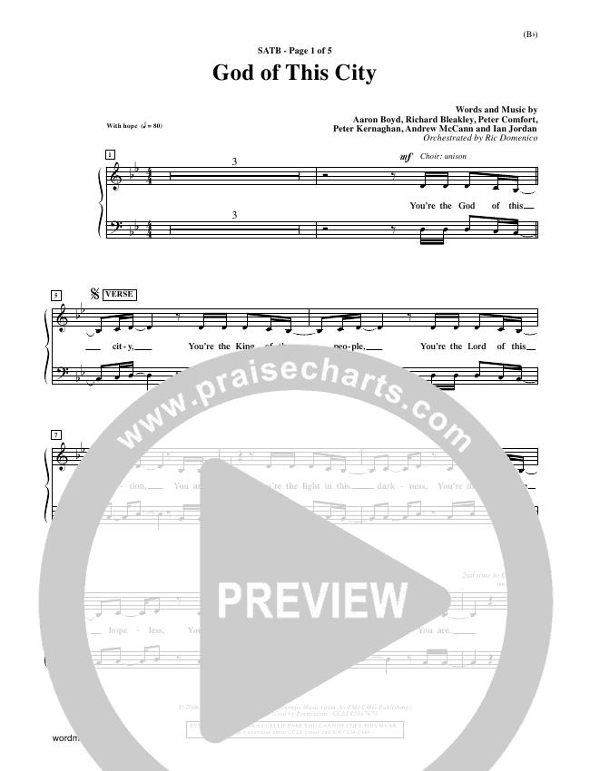 God Of This City Choir Sheet (SATB) (Passion Band)