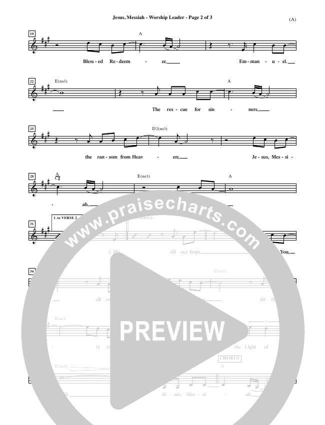 Jesus Messiah Piano/Vocal Pack (Chris Tomlin)