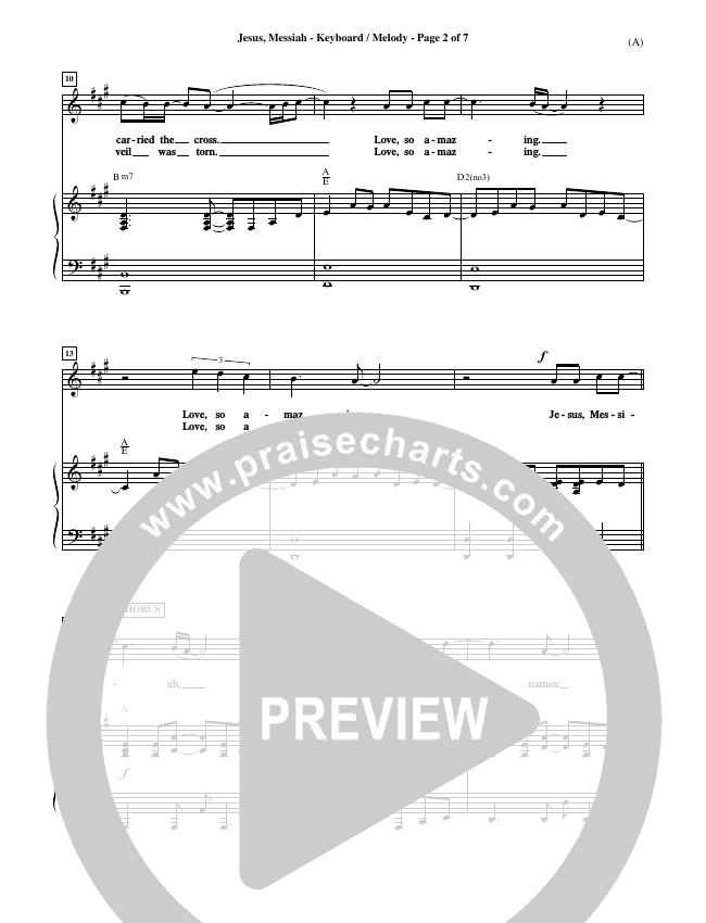Jesus Messiah Piano Sheet (Chris Tomlin)