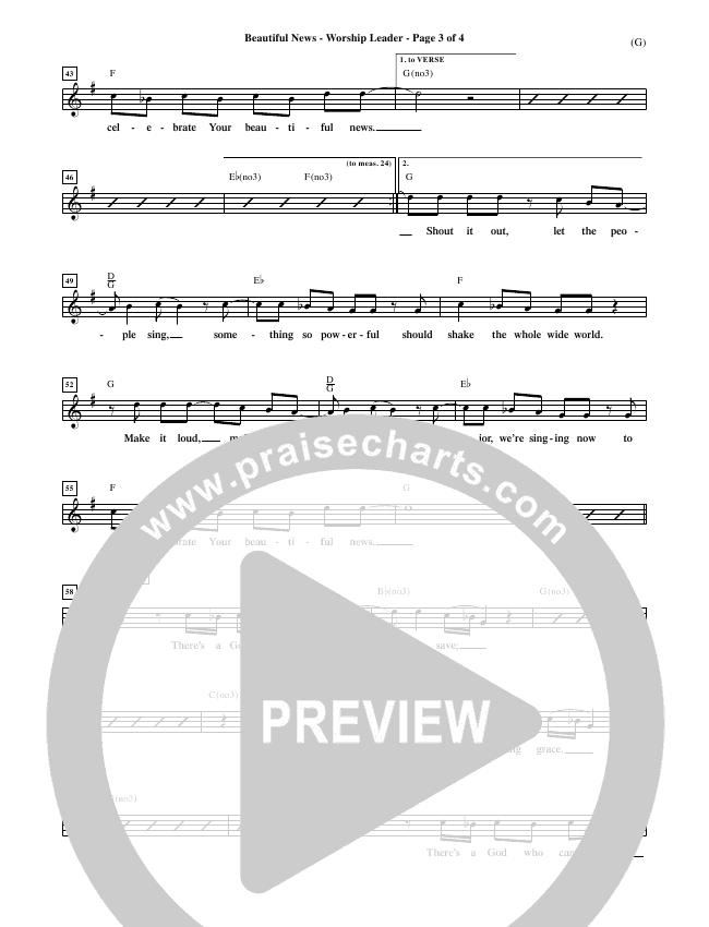 Beautiful News Piano/Vocal Pack (Matt Redman)