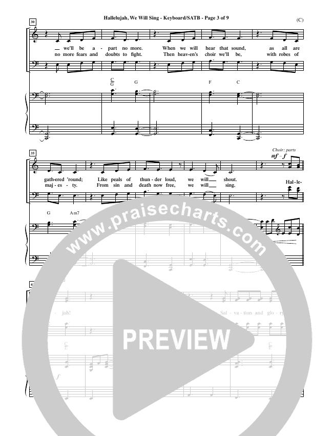 Hallelujah We Will Sing Choir Sheet (SATB) (Tommy Walker)