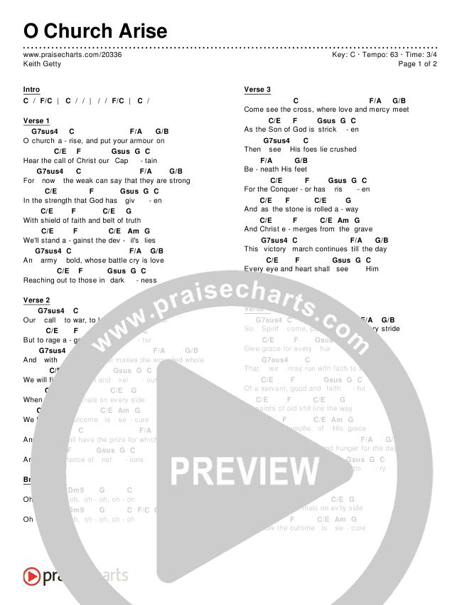 O Church Arise Chords & Lyrics (Keith Getty)