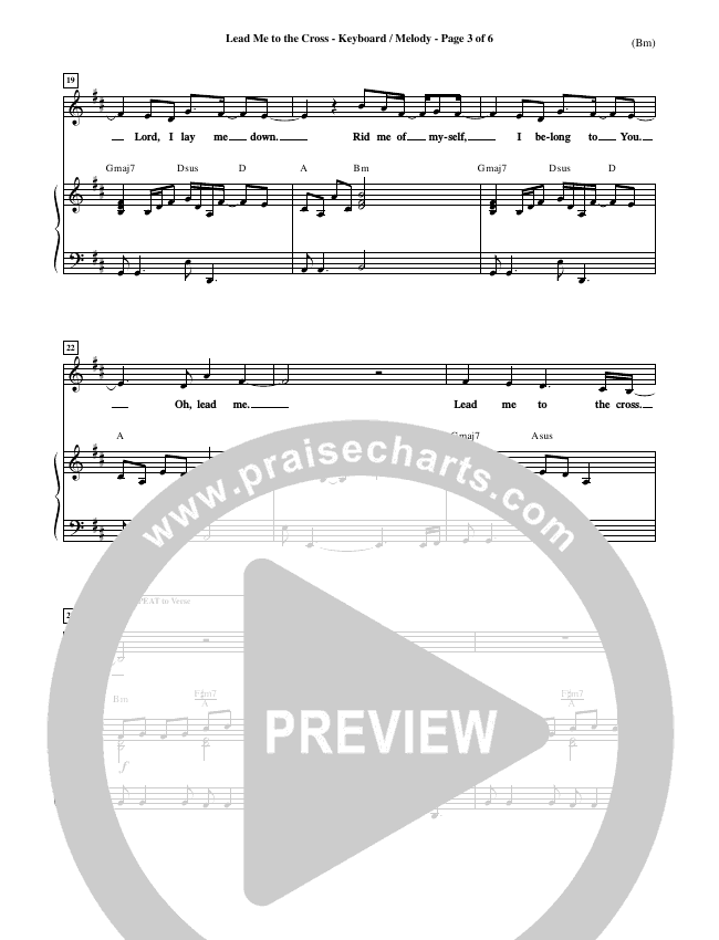 Lead Me To The Cross Piano Sheet (Brooke Fraser)