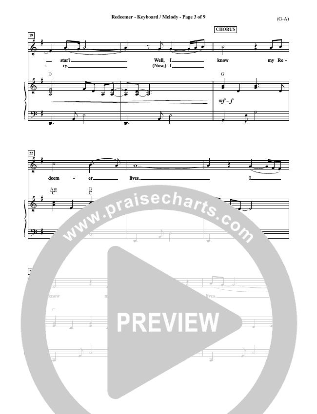 Redeemer Piano Sheet (Nicole C. Mullen)