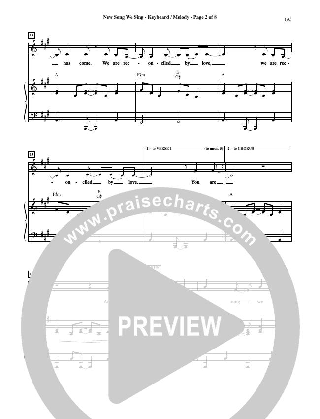 New Song We Sing Piano Sheet (Meredith Andrews)