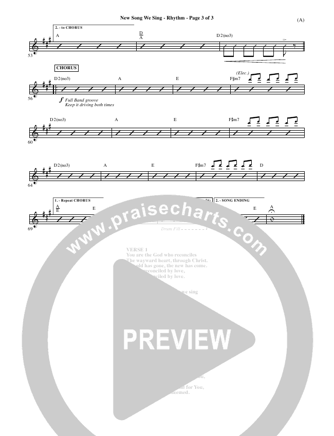 New Song We Sing Rhythm Chart (Meredith Andrews)