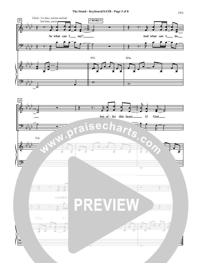 The Stand Choir Sheet (SATB) (Joel Houston)