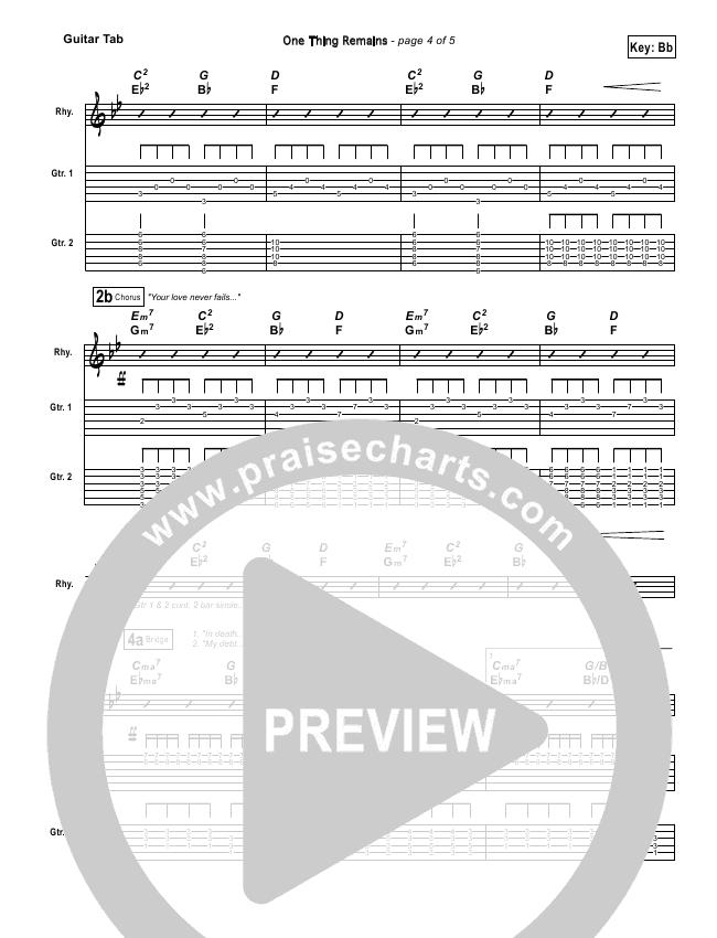 One Thing Remains Guitar Tab Bethel Music Praisecharts