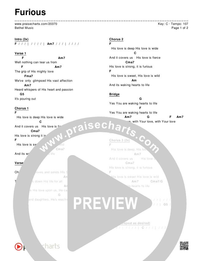 Furious Chords & Lyrics (Bethel Music)