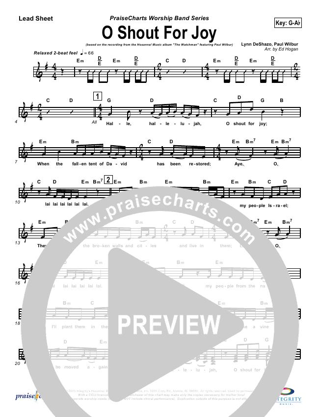 O Shout For Joy Lead Sheet & Piano/Vocal - Paul Wilbur