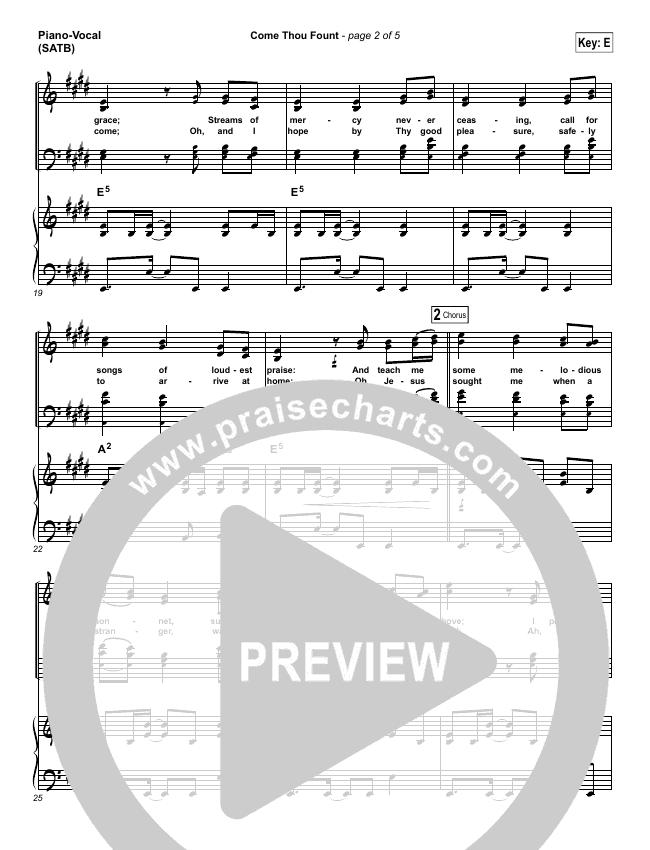 Come Thou Fount Piano/Vocal (SATB) (David Crowder / Passion)