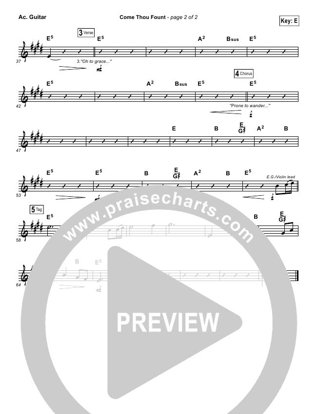 Come Thou Fount Rhythm Chart (David Crowder / Passion)