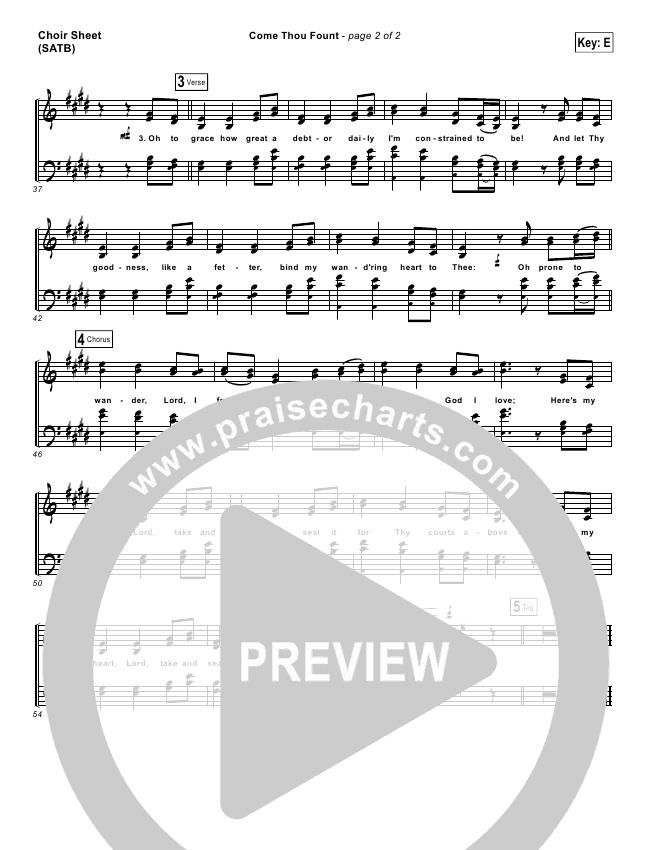 Come Thou Fount Choir Sheet (SATB) (David Crowder / Passion)