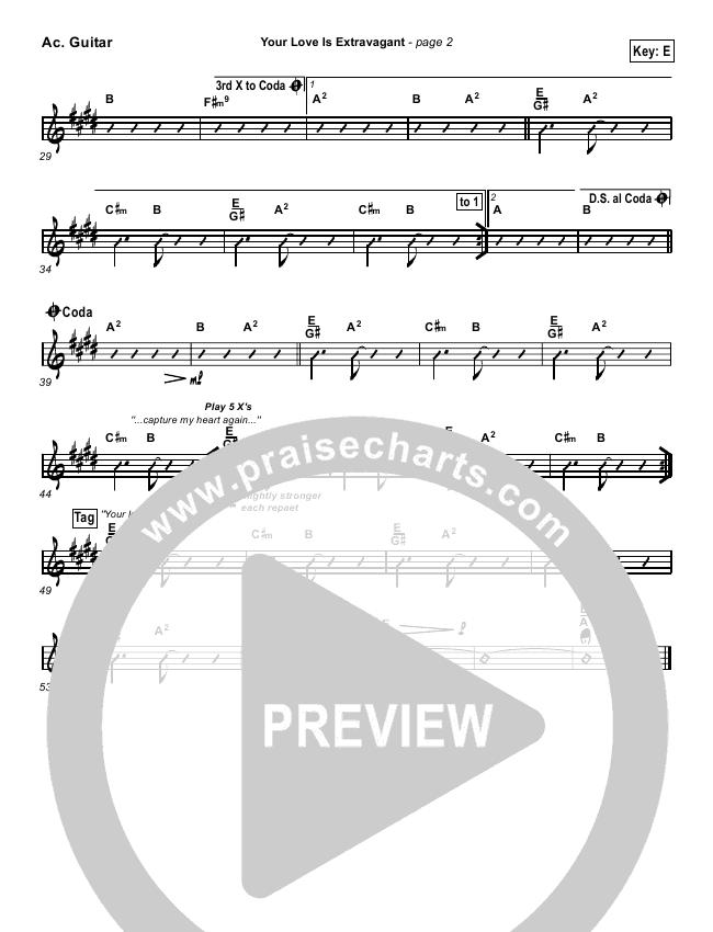 Your Love Is Extravagant Rhythm Chart Darrell Evans Praisecharts