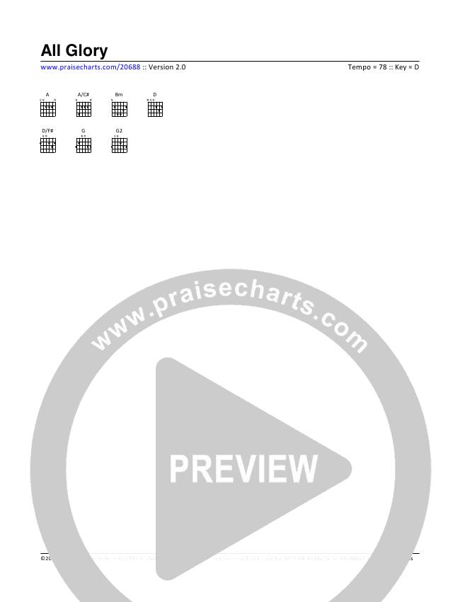 All Glory Chord Chart (Tim Hughes)
