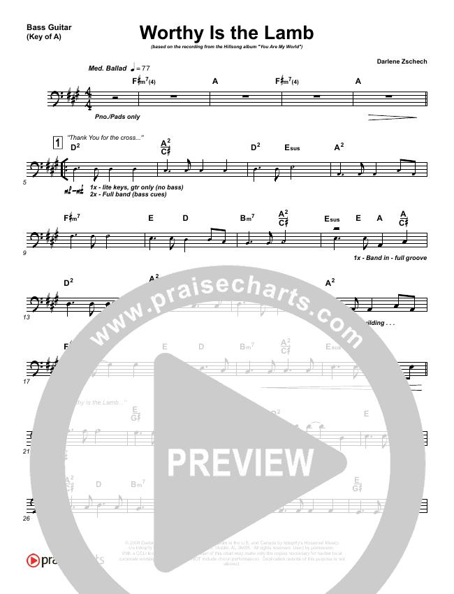 Worthy Is The Lamb Bass Guitar (Hillsong Worship)