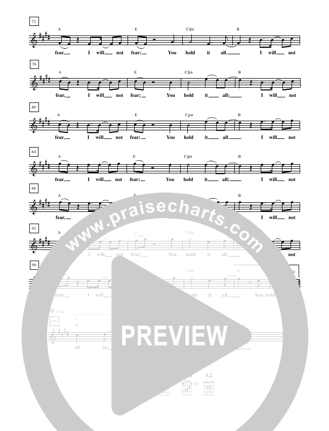 You Hold It All Lead Sheet (New Life Worship)