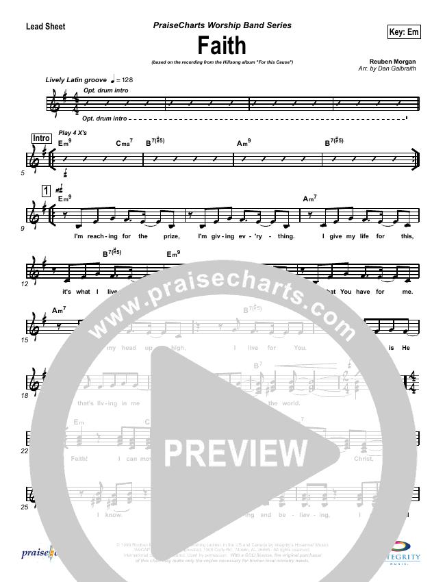 Faith Lead Sheet (SAT) (Hillsong Worship)
