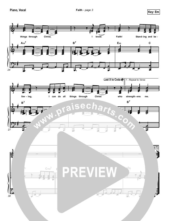 Faith Piano/Vocal (SATB) (Hillsong Worship)