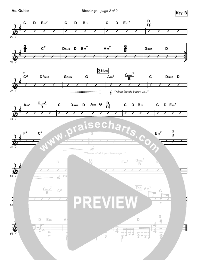 Blessings Orchestration Laura Story Praisecharts