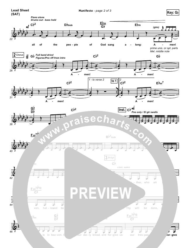 Manifesto Piano/Vocal Pack (City Harmonic)
