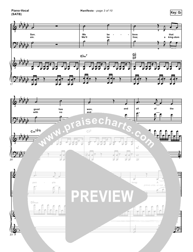 City Harmonic Manifesto Pianovocal Satb In Gb P3: Manifesto Sheet Music At Alzheimers-prions.com