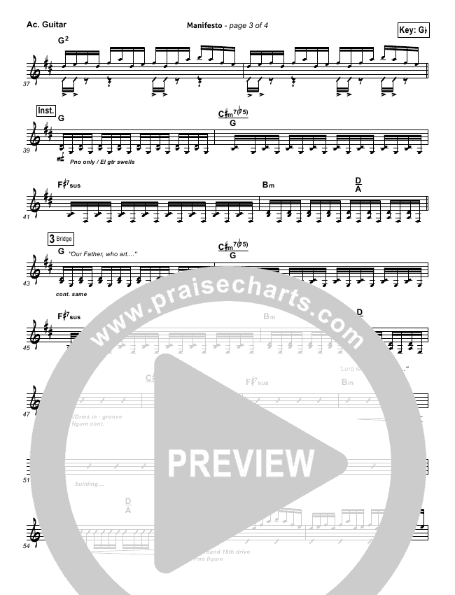 Manifesto Rhythm Chart (City Harmonic)