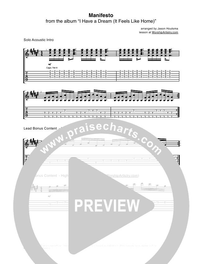 Manifesto Guitar Tab (City Harmonic)
