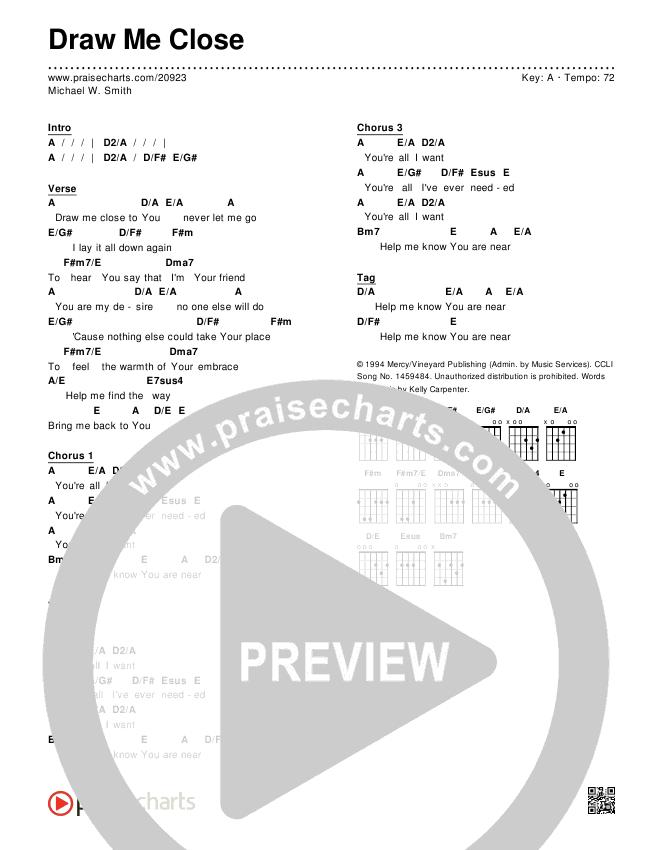 Draw Me Close Chords - Michael W. Smith | PraiseCharts