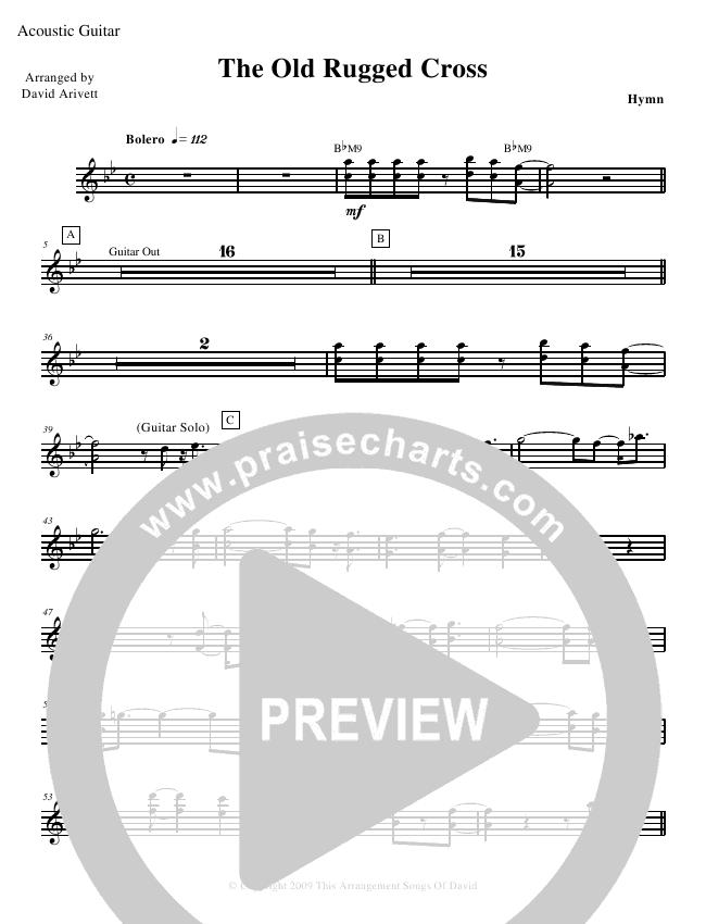 The Old Rugged Cross Rhythm Chart David Arivett Praisecharts