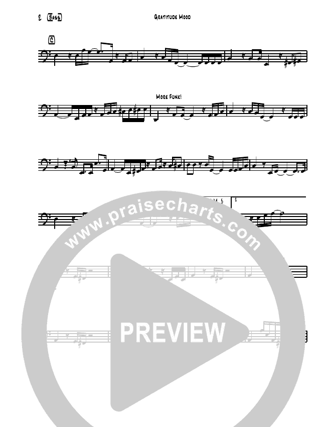 Gratitude Mood (Instrumental) Rhythm Chart (David Arivett)