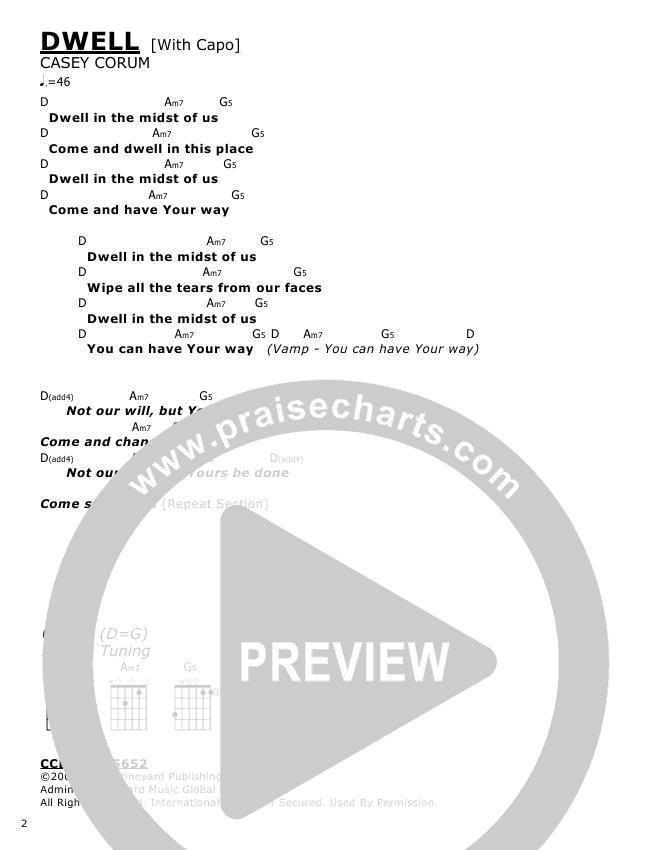 Dwell Chords Casey Corum Praisecharts