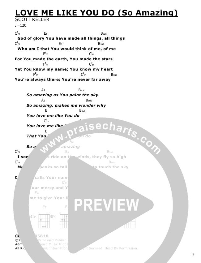 Love Me Like You Do Chords - Scott Keller | PraiseCharts