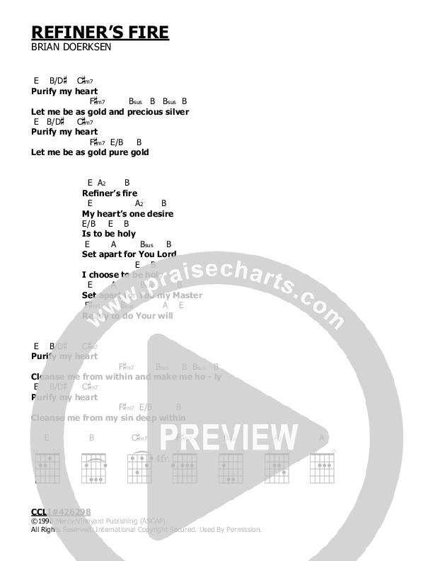 Refiner's Fire Chord Chart (Brian Doerksen)