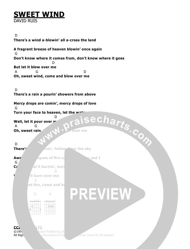 Sweet Wind Chords - David Ruis | PraiseCharts